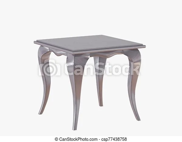 https www canstockphoto com small square coffee table on white 77438758 html