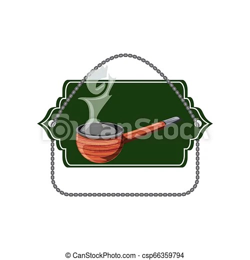 Smoke pipe wooden in seal icon vector illustration design.