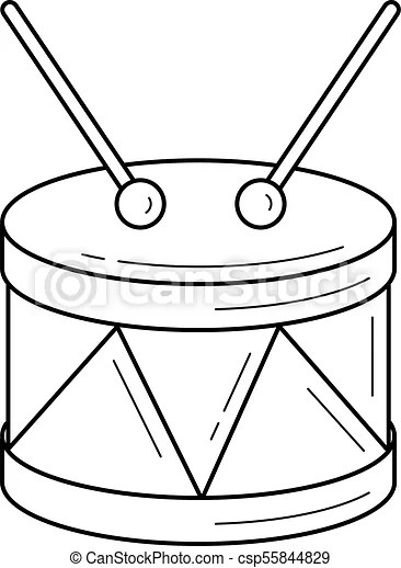 Snare drum line icon. Snare drum vector line icon isolated