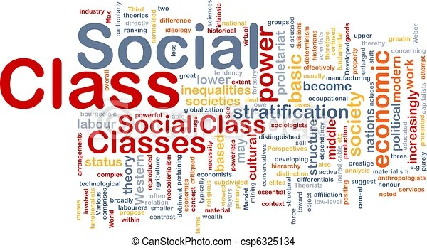 Social class background concept. Background concept wordcloud illustration of social class.