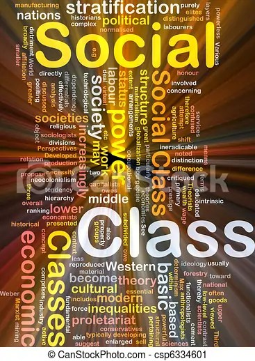 Social class background concept glowing. Background concept wordcloud illustration of social class glowing light.