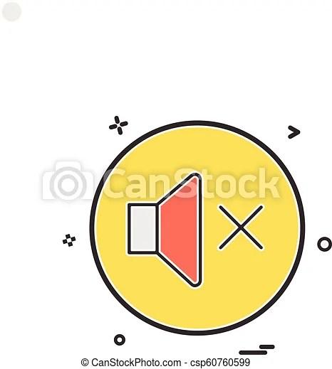 Sound volume off icon vector design.