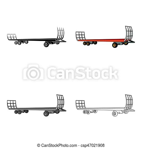 Specialized trailer on wheels for trucks for