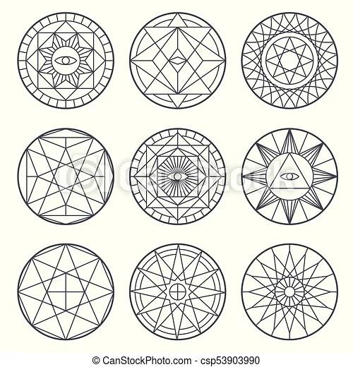 spiritual alchemy vector symbols