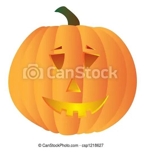 spooky pumpkin illustration of