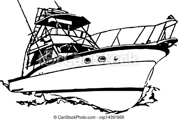 Name brand older sport fishing boat rigged for catching