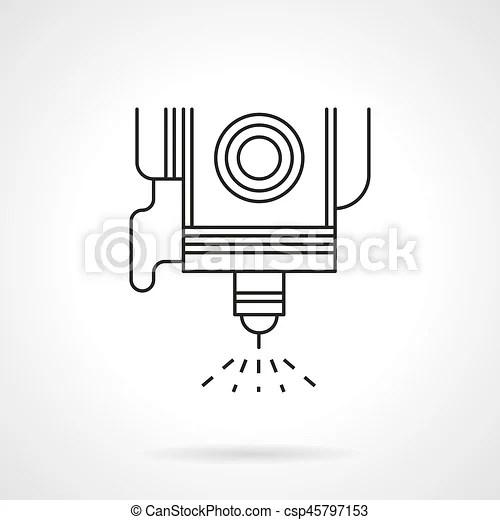 Spot welding flat line vector icon. Symbol of spot welding