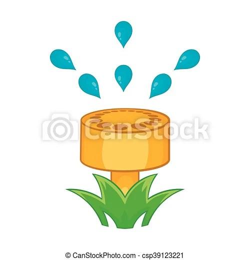 sprinkler icon in cartoon style