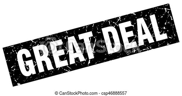Square grunge black great deal stamp.
