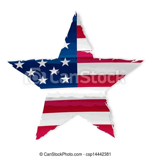 star in usa flag