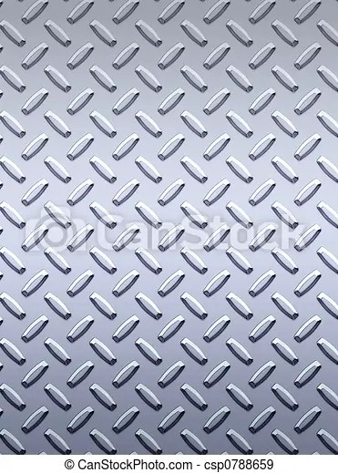 Diamond Plate Clipart : diamond, plate, clipart, Steel, Diamond, Plate., Large, Sheet, Silver, Stainless, Tread, CanStock