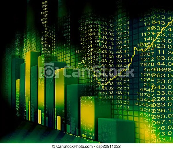 stock market graph and