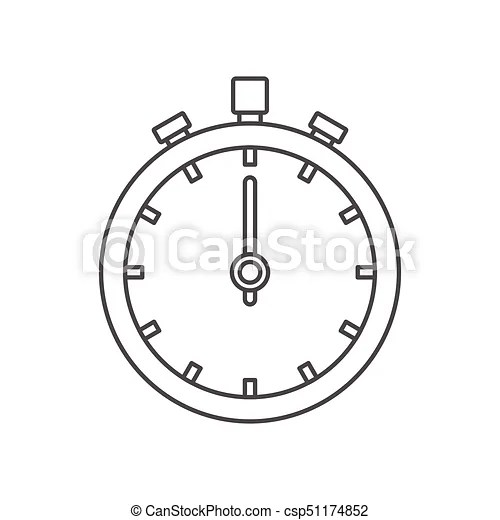 Stopwatch icon, outline style. Stopwatch icon. outline