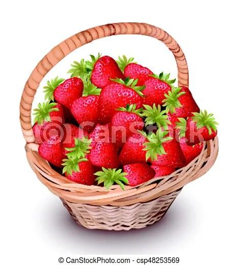 strawberry fresh fruits in basket