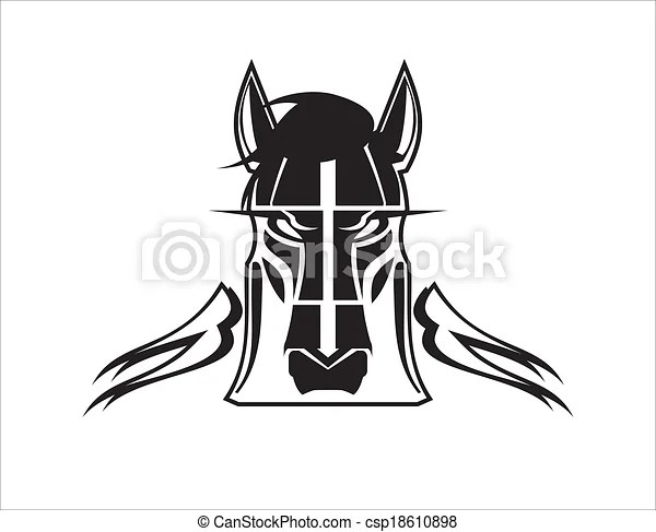 Stylized wild horse head. Suitable for team identity