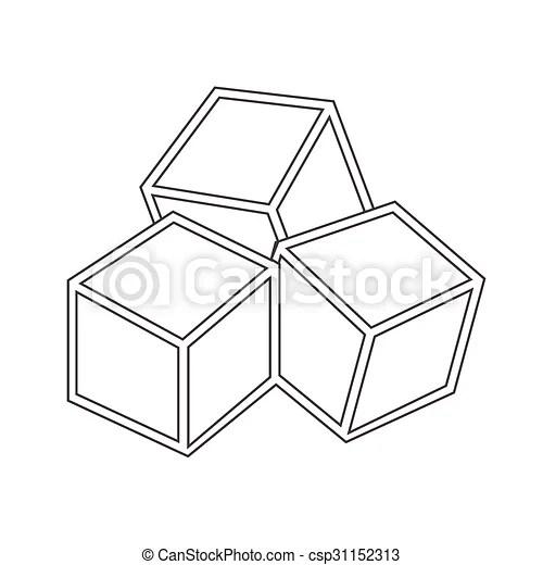 Sugar cubes icon.