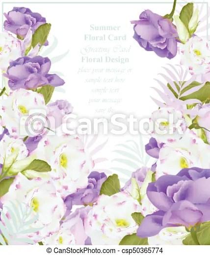 summer watercolor flowers vector