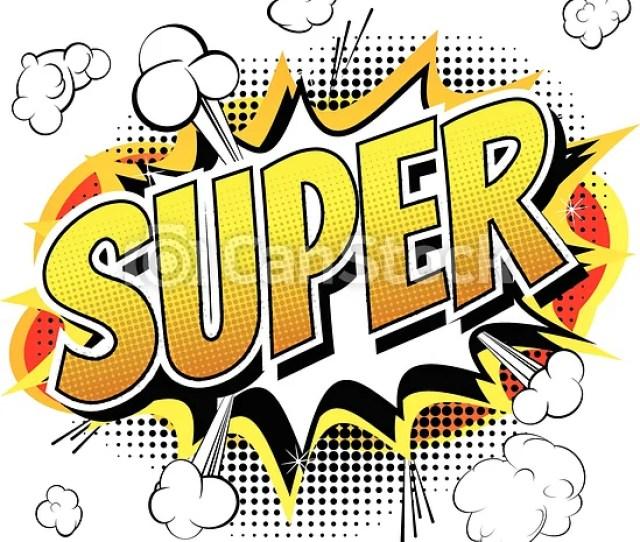 Super Comic Book Style Word Csp