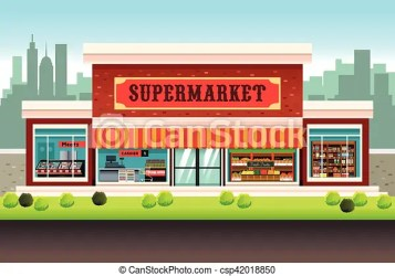 supermarket grocery vector clipart illustration clip drawing graphic line drawings graphics