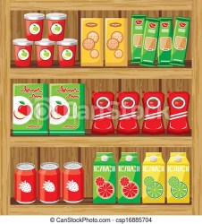supermarket food clipart vector shelfs clip icon drawing drawings graphic icons canstockphoto