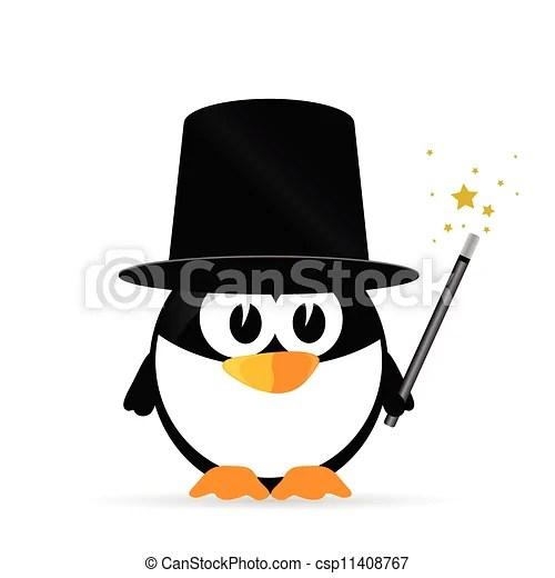Sweet and cute penguin vector illustration