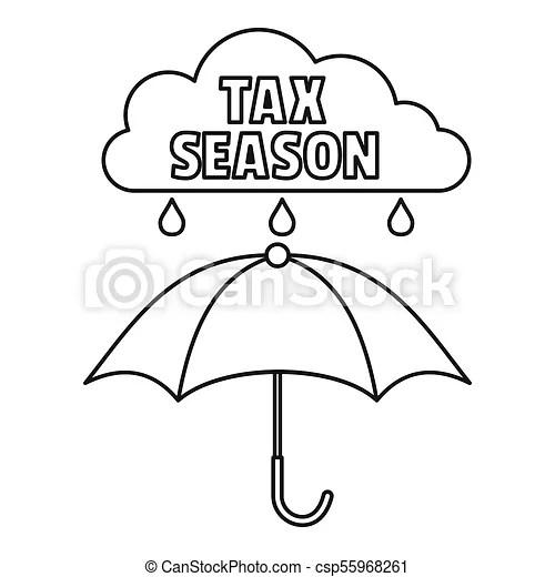 Tax season icon, outline style. Tax season icon. outline