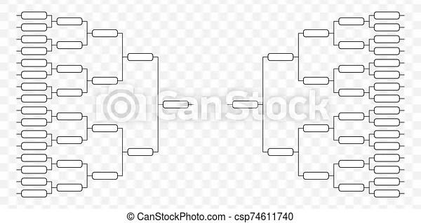 Team tournament bracket. play off template.