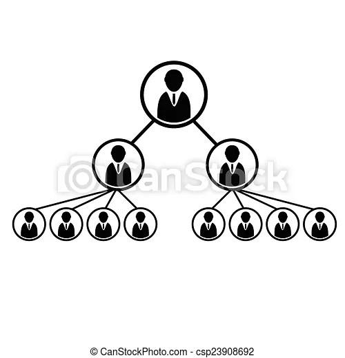 Team work structure icon illustration on white.
