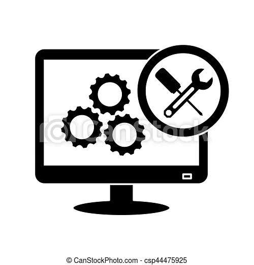 Technical repair of computer icon image vector