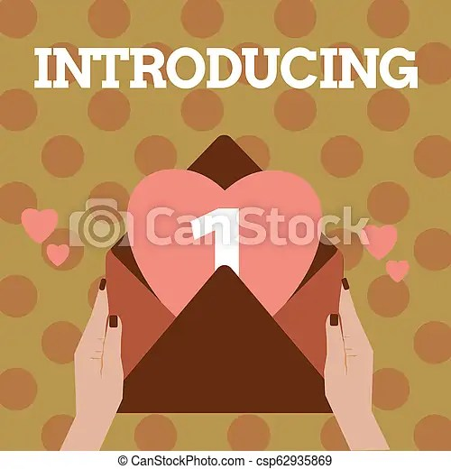 Text sign showing introducing. conceptual photo presenting a topic or someone initial approach first meeting.