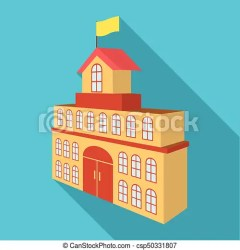The building of the town hall city hall building single icon in flat style vector symbol stock illustration web The CanStock