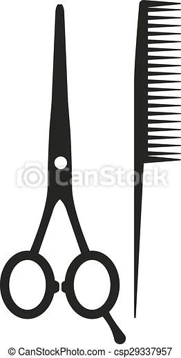 Scissors And Comb Clipart : scissors, clipart, Scissors, Icon., Barbershop, Symbol., Vector, Illustration., CanStock
