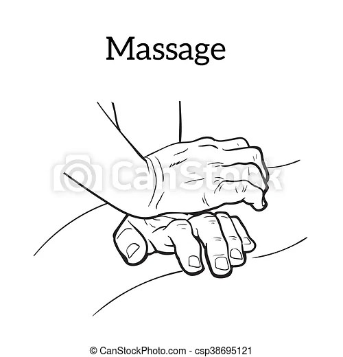 Therapeutic manual massage. medical therapy. Hands to body