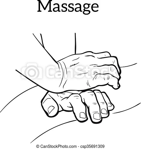 Therapeutic manual massage. medical therapy. Hand massage