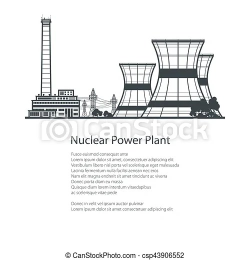 Thermal power station , poster brochure design. Silhouette