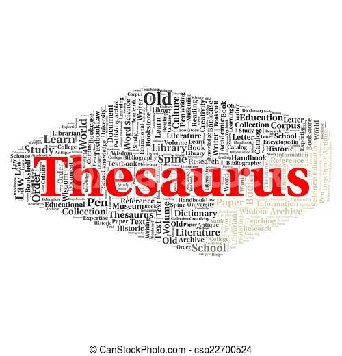 Thesaurus word cloud concept. Thesaurus word cloud shape concept.