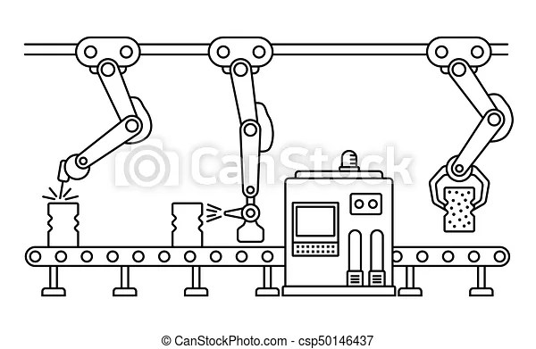 Thin Line Style Assembly Line Automatic Production