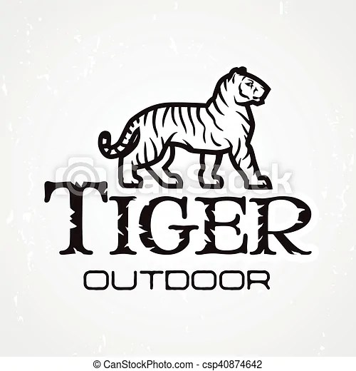 Tiger logo vector. mascot design template. shop or product