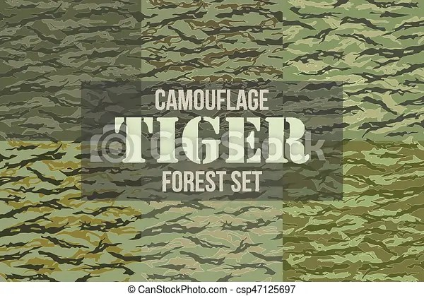 tiger stripe camouflage seamless