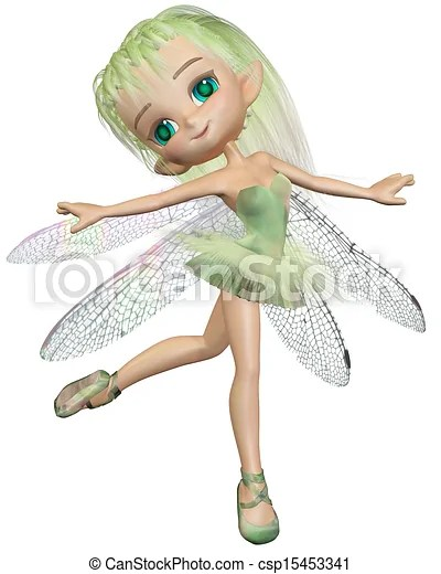 toon green dragonfly ballet fairy