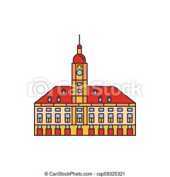 Town hall icon cartoon style Town hall icon cartoon town hall vector icon for web design isolated on white background