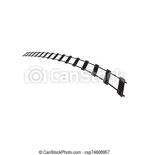 Train track graphic design template vector isolated.
