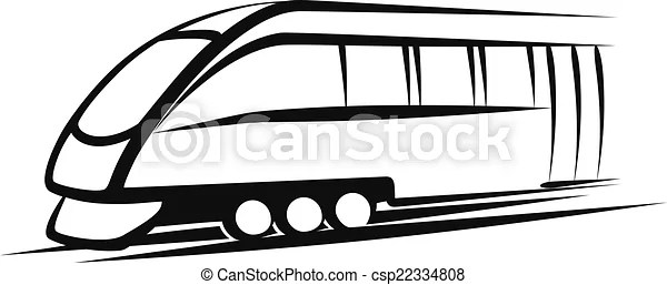 Simple vector illustration of a train sketch.