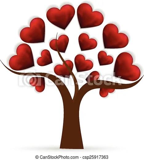 tree heart love logo