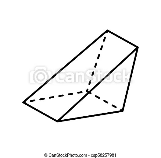 Triangular prism geometric figure gometry shape