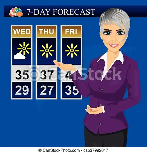 Tv weather news reporter meteorologist anchorwoman reporting on monitor screen. Tv weather news reporter meteorologist anchorwoman reporting on ...