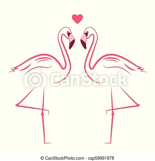 two pink flamingos in