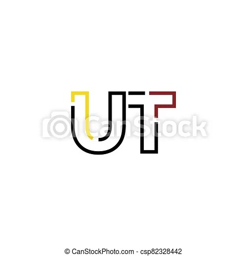 Ut letter logo icon design template elements. Letter logo