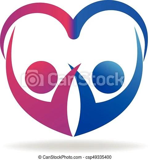 valentines couple love logo