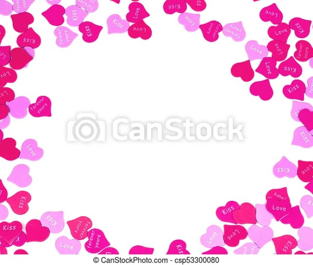 Valentines Day Hearts Border Of Red And Pink Sprinkles Csp
